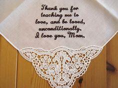 German Plauen lace wedding handkerchief with custom by linenwhites, $33.00