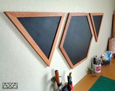Hexagon Reclaimed Chalkboard Geometric Wood by AXAhandcrafted