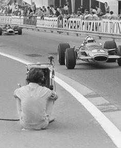 #F1 #Monaco #Lotus #Richard Attwood #racing #cars #1960s
