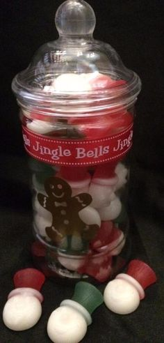 Vintage jar filled with snowmen gummy sweets just £4.00 a jar by Sweet Memories