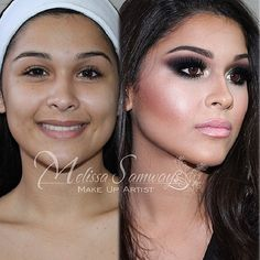 ❤ transformation! She looks super young before makeup!️