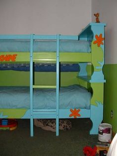 """- HOME SWEET HOME - My nephews (ages 5 and have long awaited their Scooby-Doo """"bedroom makeover"""". My sister procured some bunkbeds and I transformed Scooby Doo Mystery Incorporated, Romantic Picnics, Picnic Recipes, Picnic Ideas, Picnic Foods, Beach Picnic, Backyard Bbq, Blue Area, Room Themes"""