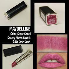 MichelaIsMyName: MAYBELLINE Color Sensational Creamy Mattes Lipstic...