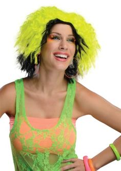 Rubie's Costume Chic Wig, Neon Yellow/Black, One Size Rubie's Costume Co http://www.amazon.com/dp/B00C0PE5OA/ref=cm_sw_r_pi_dp_h.G0vb03QDR76