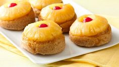 Gluten-Free Pineapple Upsidedown Cakes. Perfect for breakfast, dessert or just a simple snack.