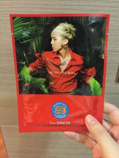 The Saem Global Eco Mask Sheet! Super in love with this amazing facial mask with G-Dragon featured on it! :3