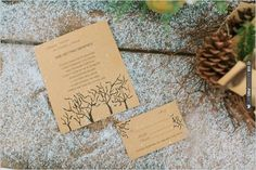 simple rustic wedding invites by Devoted To You | VIA #WEDDINGPINS.NET