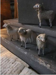 Christmas sheep   German putz sheep antique primitive