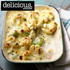 Choose a creamy side dish for Sunday roast with this cauliflower and leek gratin. Choose a creamy side dish for Sunday roast with this cauliflower and leek gratin recipe, baked in a cheddar cheese sauce with thyme. Leek Recipes, Side Dish Recipes, Vegetable Recipes, Vegetarian Recipes, Cooking Recipes, Cooking Pasta, Vegetarian Dinners, Cheese Recipes, Chicken Recipes