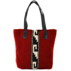 Navajo Style Hand Woven Wool Tote/ Red Shoulder by ManosZapotecas, $130.00
