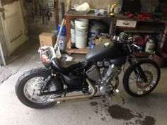 Finished Yamaha XV535 budget bobber jetted tuned and running like a dream.