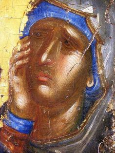 Russian Icons, Byzantine Icons, Orthodox Icons, Virgin Mary, Christmas Art, Face, Painting, Nun, Blue