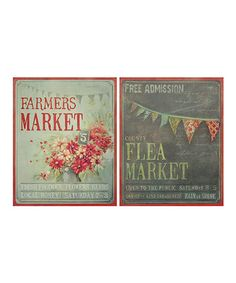Look at this #zulilyfind! 'Farmers Market' & 'Flea Market' Canvas Set #zulilyfinds