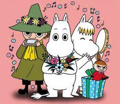 Happy New Year from Moomin : Photo Little My Moomin, Moomin Wallpaper, Les Moomins, Tove Jansson, Moomin Valley, Cartoon Characters, Kawaii Anime, Illustrators, Fanart