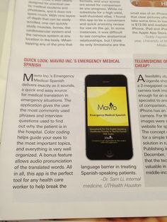 Medical Spanish Magazine Review.    Thank you Dr. Sam Li, Internal Medicine, UT Health Science Center