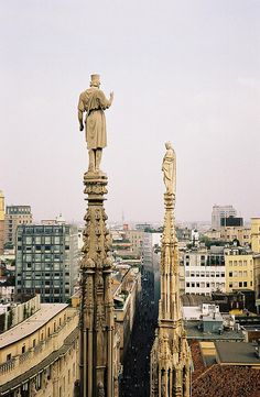 From the terrace of the Duomo of Milan - the only cathedral where you can walk upon! #Italy | Find it on www.gadders.eu