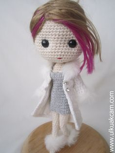 PDF Crochet Pattern for Deniz Doll Outfit - Winter Time SALE this designer is amazing!