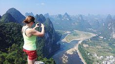 A panoramic view of Li River