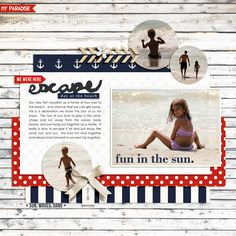 digital scrapbooking layout created by rlma featuring May 2014 FREE Template by Sahlin Studio