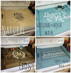 Farmhouse Stove Top Cover Noodle Board, Oven Cover, Stove Cover, Rustic Farmhouse Decor, Asst Colors – Famous Last Words Rustic Farmhouse Decor, Vintage Farmhouse, Rustic Decor, Farmhouse Furniture, Easy Craft Projects, Easy Crafts, Craft Ideas, Decor Ideas, Stove Top Oven