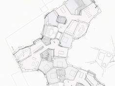 EMI Architekten, Adjusting the floorplan, Wohnhaus Hottingen, Steinwiesstrasse Zürich Growth And Decay, Concept Architecture, Pent House, Design Process, Planer, Floor Plans, How To Plan, Thesis, Atv