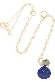 Melissa Joy Manning14-karat gold multi-stone necklace
