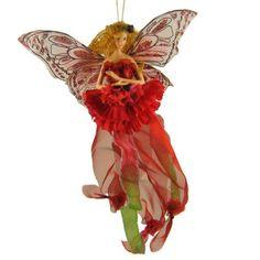 Capricorn Fairy Hanging Ornament Red January Zodiac Home