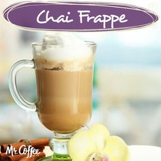 Try our recipe for our favorite Mr. Coffee® Chai Frappe. #MrCoffee