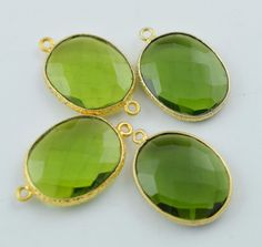 Finest Quality 2 Pieces Peridot Faceted by LeejewelCreations