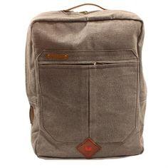 Rucksack aus Canvas und Lederapplikationen - Swiss Design, in einem fairtrade Projekt in Orissa, Indien hergestellt. Nachhaltiges Design, Shops, Leather Backpack, Backpacks, Fairtrade, Bags, Inspiration, Style, Fashion