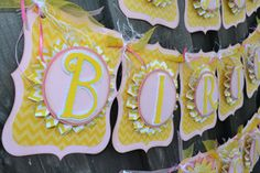 Happy Birthday Sunshine Banner  Its all smiles and sunshine for this celebration!! This bright and cheery Birthday Banner is perfect for