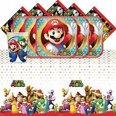 Super Mario Bros Nintendo Children's… Super Mario Birthday, Mario Birthday Party, Super Mario Party, 10th Birthday, Birthday Ideas, Super Mario Bros Nintendo, Mario Costume, City Super, 16 Balloons