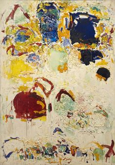 """Joan Mitchell (American, """"Diabolo (neige et fleurs)"""" 1969 Indianapolis Museum of Art Joan Mitchell, Georges Mathieu, Abstract Expressionism, Abstract Art, Abstract Paintings, Original Paintings, Art Moderne, Colorful Paintings, Helen Frankenthaler"""