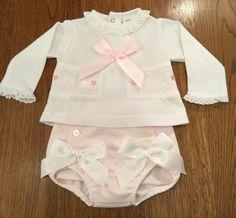 KNICKERS /& HEADBAND 3-6 MONTHS BNWT BEAUTIFUL BABY GIRLS PINK /& WHITE DRESS