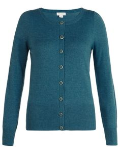 Mila Gold Rim Button Cashmere Cardigan | Blue | Monsoon