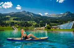 NEUER NATURBADESEE IN DER ALPENTHERME GASTEIN. Die Therme ist direkt mit unserem Leading Spa Resort Hotel Norica verbunden!  #leadingsparesorts #leadingspa #wellness #beauty #spa #natur #therme #gastein #badesee #summer #nature #sommerurlaub #summerdeal #vacation Wellness Hotel Salzburg, Kaiser Franz, Das Hotel, Seen, Outdoor Furniture, Outdoor Decor, Austria, Surfboard, Waves