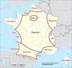 La France vue par les Parisiens, les Marseillais ou encore les Bretons