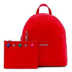 Love Moschino Backpack with Clutch Bag Cristiano Ronaldo Underwear, Shoes Uk, Clutch Bag, Moschino, Leather Backpack, Red Leather, Nike Men, Dust Bag, Backpacks