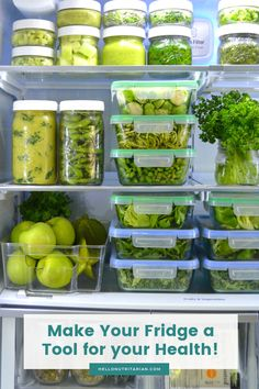 I have a passion for refrigerator organization and meal prepping because it's my number one tool to thrive in my nutritarian lifestyle! Eat to Live Fridge Guide by Hello Nutritarian Healthy Eating Tips, Clean Eating, Healthy Recipes, Healthy Food, Glass Food Storage, Food Storage Containers, Eat To Live Diet, Healthy Fridge, Refrigerator Organization