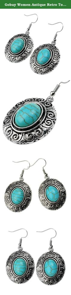 Gobuy Women Antique Retro Totem Turquoise Pedant Dangle Earrings. 100% Brand New Jewelry. Gender:Women Girls Item Type:Earring Earring Type:Drop Earring Style:Fashion Material:Alloy,Turquoise Color:Silver Occasion:Cocktail,Party,Prom,Club,Beach,Dating,Wedding,Engagement,Anniversary,Birthday Made entirely in China, which is internationally renowned for its trend setting, high-end fashion jewelry. For over ten years, ours earrings designs have romanced men and women alike. we have brought…