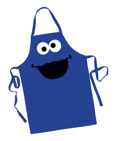 Wear this adorable blue apron while making sweets and treats, but make sure the Cookie Monster doesn't catch a whiff, or he'll gobble them up. 27'' W x 34'' HPolyesterHand washImported
