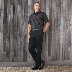 Haggar® Men's Short-Sleeve Microfibre Shirt With T-Shirt