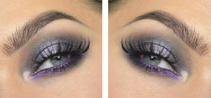 Get your purple metallics right! Linda Hallberg kills it with our Lumière eyeshadows & tops them off with Shiny Effects in Silver Lilac :) #makeup #mua #metallics