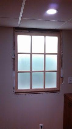 Faux Basement Window