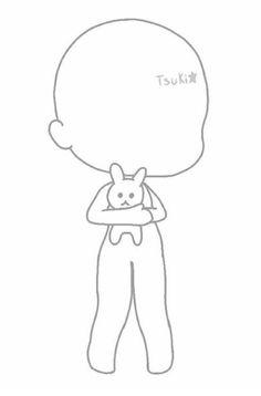 How do you draw Best Anime Drawings, Kawaii Drawings, Cute Drawings, Chibi Body, Drawing Anime Clothes, Drawing Body Poses, Chibi Sketch, Anime Poses Reference, Cute Poses