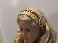 Netherfield Ensemble Headband variation, by agseamstress on Etsy