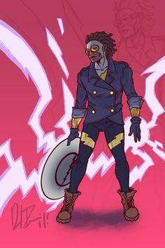Hey guys, this is for P:RT's open call for Static Shock redesigns and fan-art in honor of the late, great Dwayne McDuffie. Static Redesign: A Tribute Comic Character, Character Concept, Character Design, Black Characters, Dc Comics Characters, Hq Marvel, Marvel Dc Comics, Black Lightning Static Shock, Hero Time