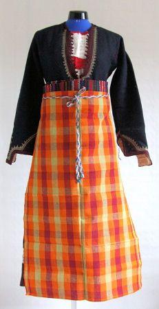 Bulgarian national costumes: Bulgarian national costume from region of Smolyan