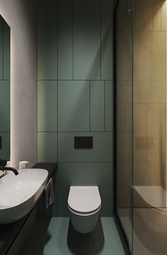 Lime Rock on Behance Small Toilet Design, Small Toilet Room, Washroom Design, Bathroom Design Luxury, Simple Bathroom Designs, Bathroom Design Small, Bad Inspiration, Bathroom Inspiration, Design Hall