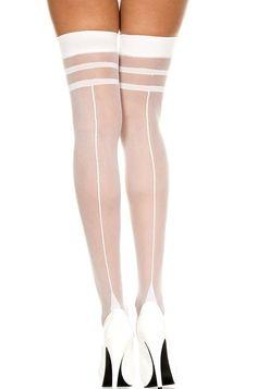 c6bf08dec1d Bridal White Stockings Hosiery Thigh Highs